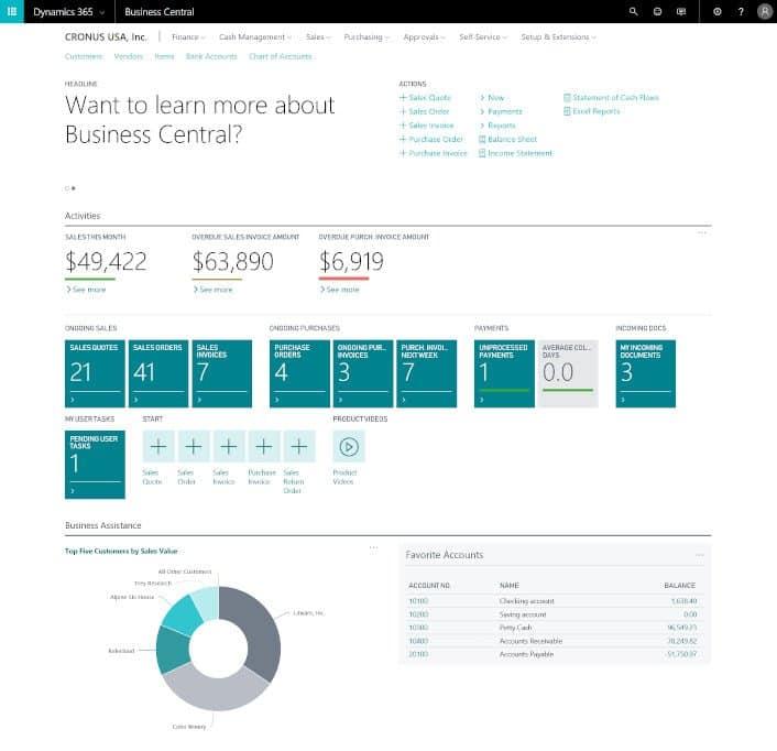 Business Central Financial Management